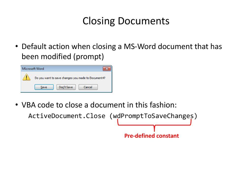 VBA (Visual Basic For Applications) Programming Part II