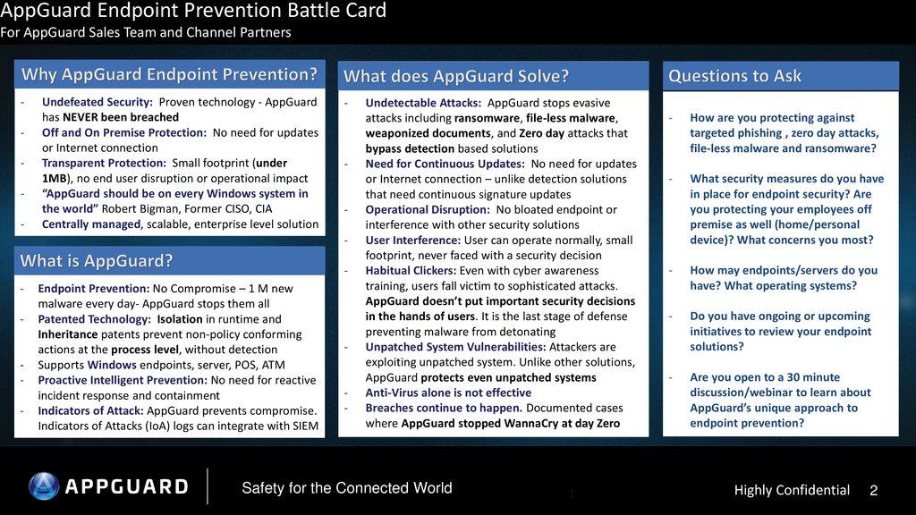 AppGuard Endpoint Prevention Battle Card - ppt download