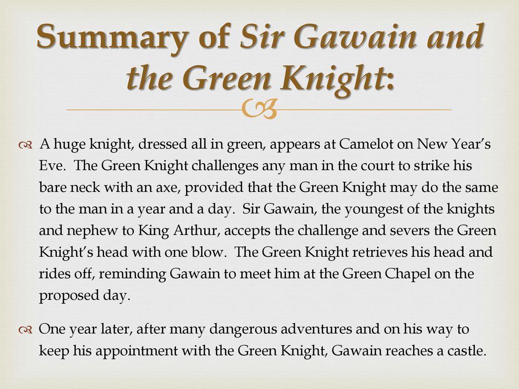 sir gawain and the green knight summary