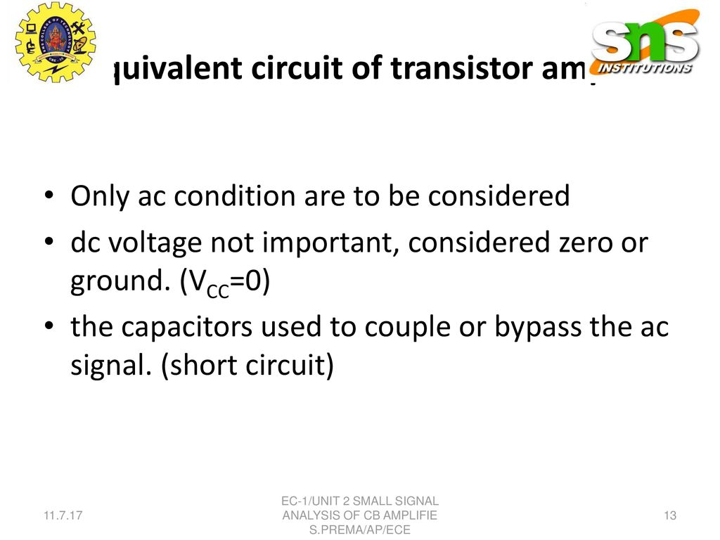 Small Signal Analysis Of Cb Amplifier Ppt Download Ideas Circuit Transistor Amplifiers Ac Equivalent