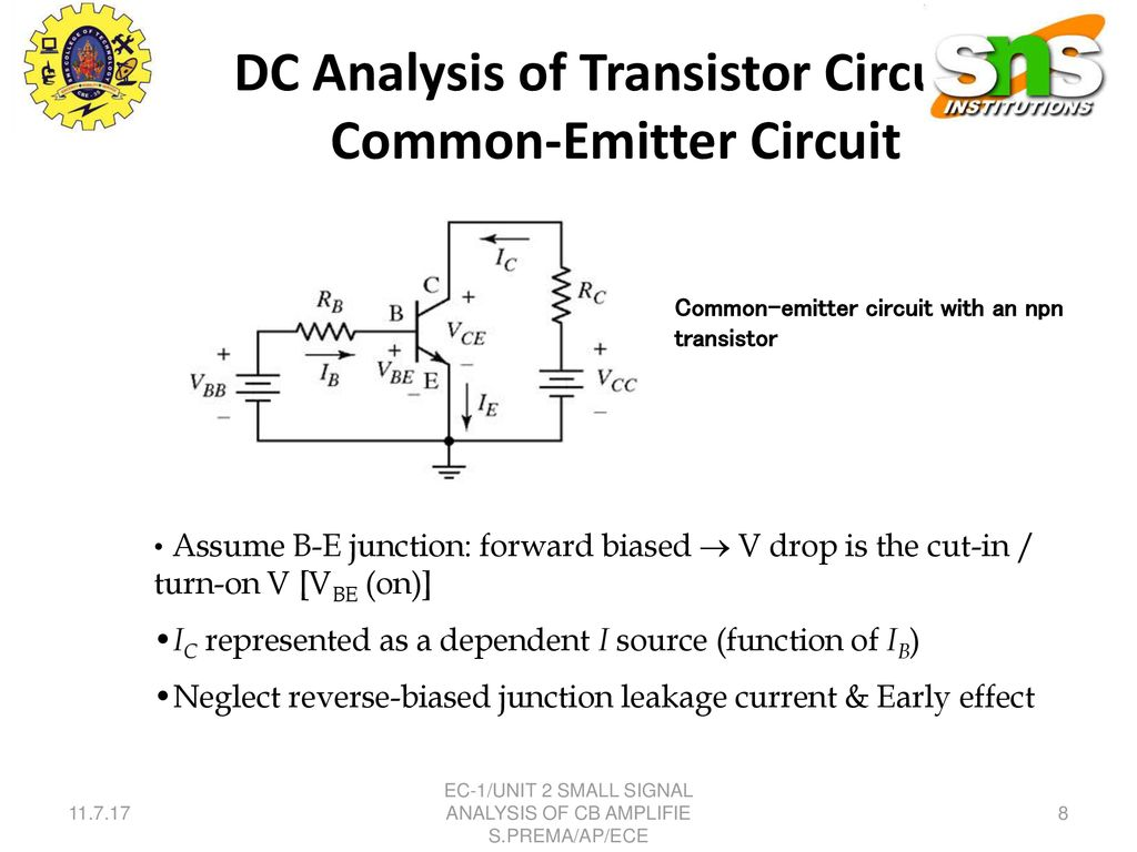 Small Signal Analysis Of Cb Amplifier Ppt Download Common Emitter Transistor Circuit Dc Circuits