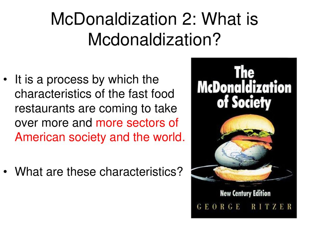 mcdonaldization of society