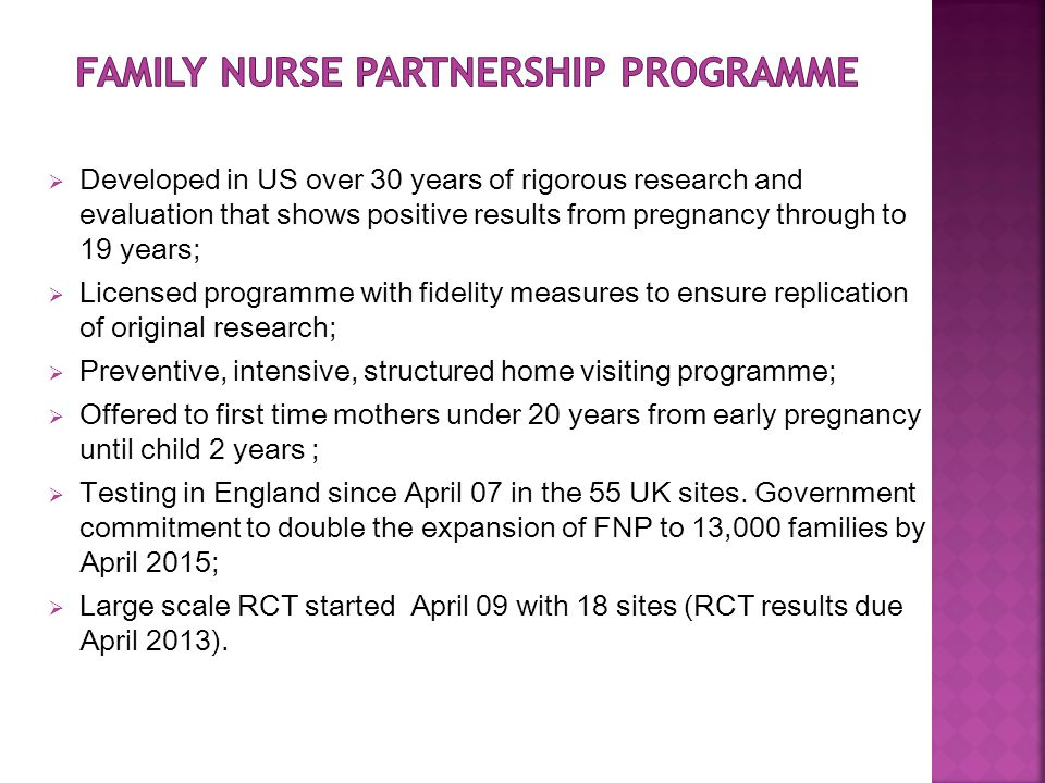 Family Nurse Partnership Programme