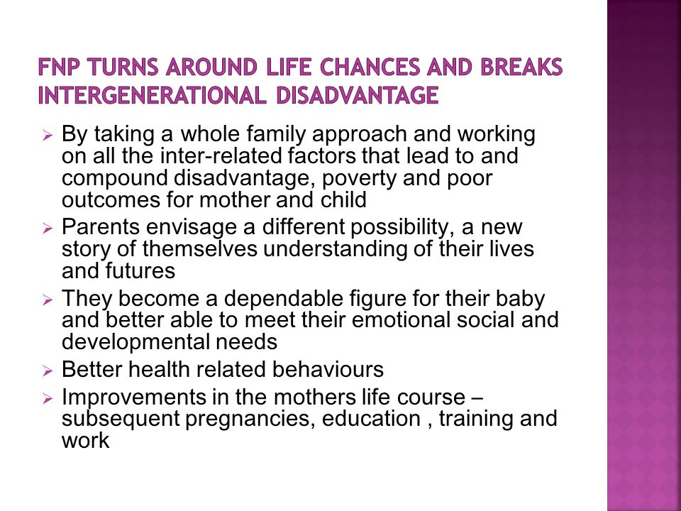 FNP turns around life chances and breaks intergenerational disadvantage