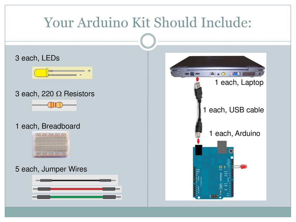 Introduction To Arduino Microcontrollers Ppt Download 13 Arduinokit Your Kit Should Include