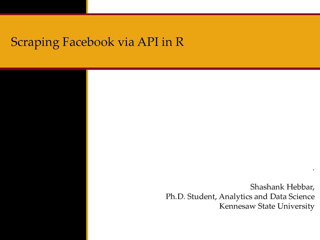 Scraping Facebook