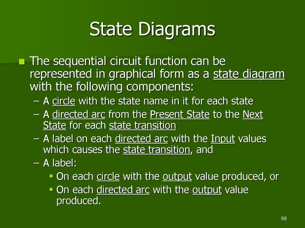 Ekt 121 4 Digital Electronics I Ppt Download Sequential Wiring Diagram State Diagrams The Circuit Function Can Be Represented In Graphical Form As A