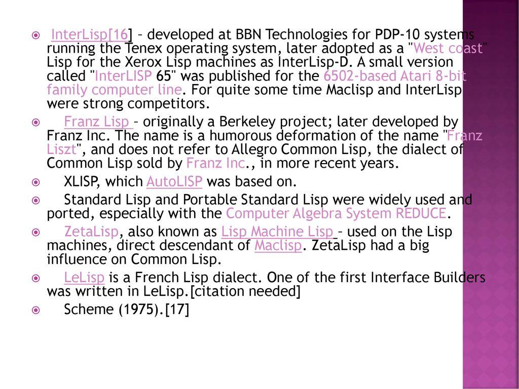 Lisp  - ppt download
