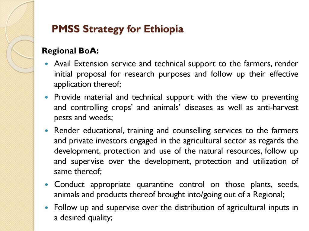 Pest Management Support Service Strategy for Ethiopia - ppt