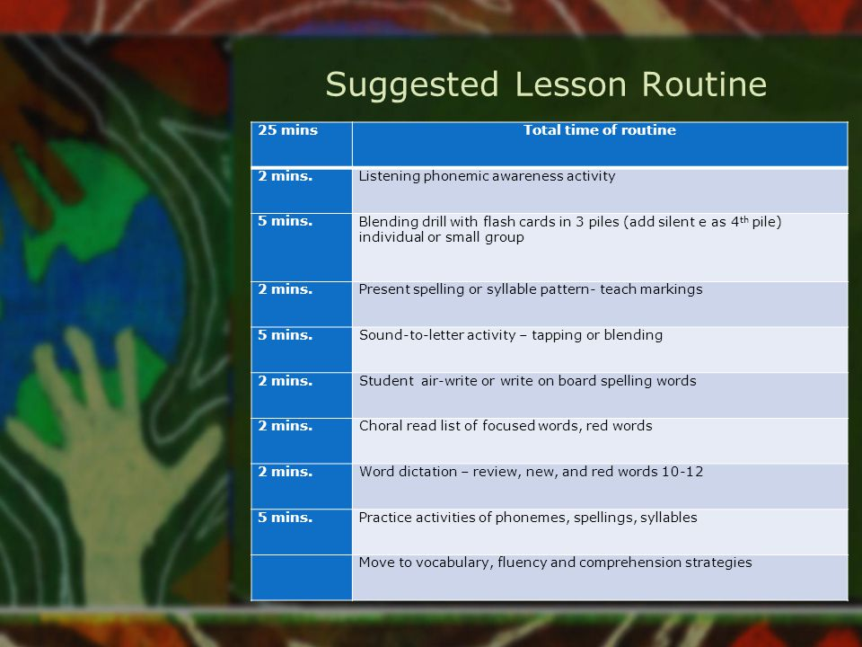Suggested Lesson Routine