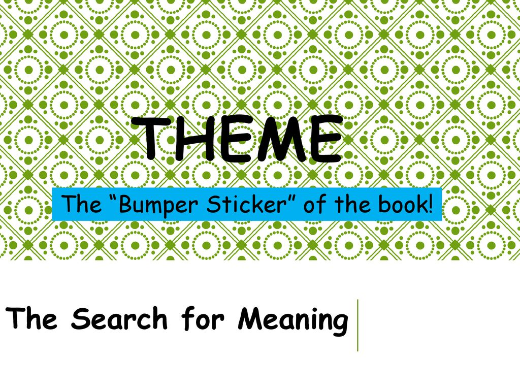 """The """"Bumper Sticker"""" of the book! - ppt download"""