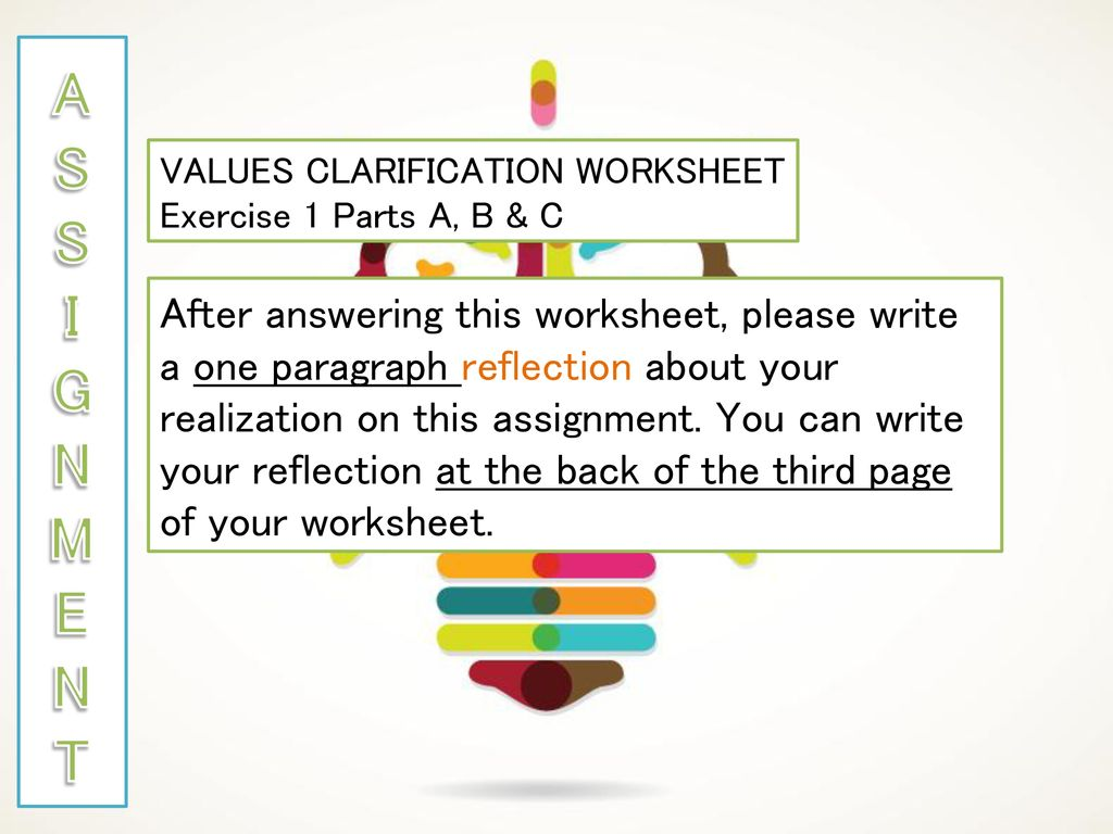 Worksheets Values Clarification Worksheet how many of you have a religion ppt download s i g n m e t values clarification worksheet exercise 1 parts b c