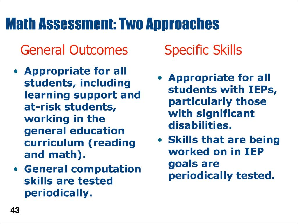 Special Education Credential of Competency Standard #8: Assessment ...