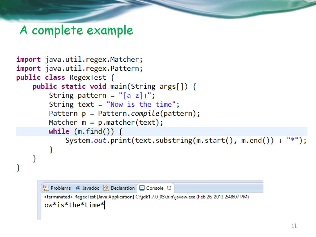 Java Programming Course Regular Expression Ppt Download