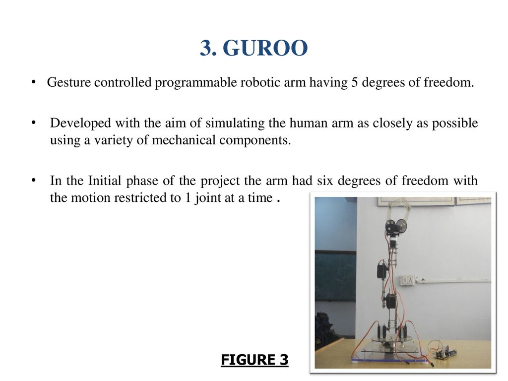 GESTURE CONTROLLED ROBOTIC ARM - ppt download