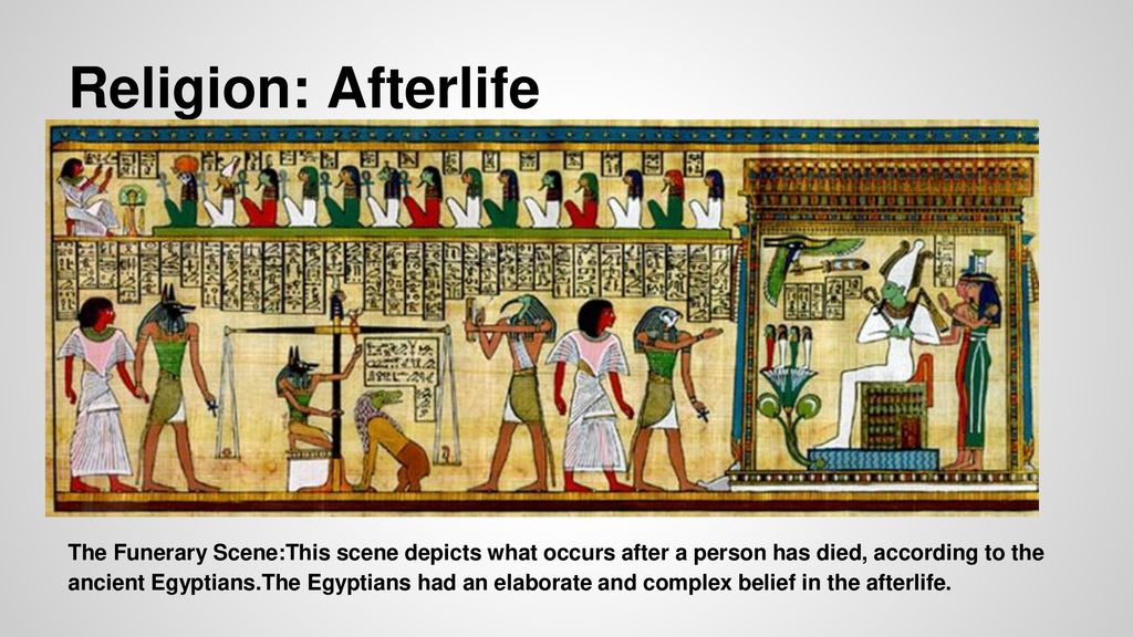 ancient egypt religion afterlife