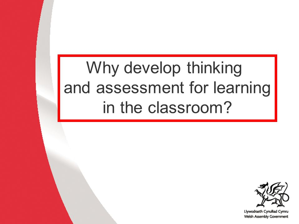 and assessment for learning