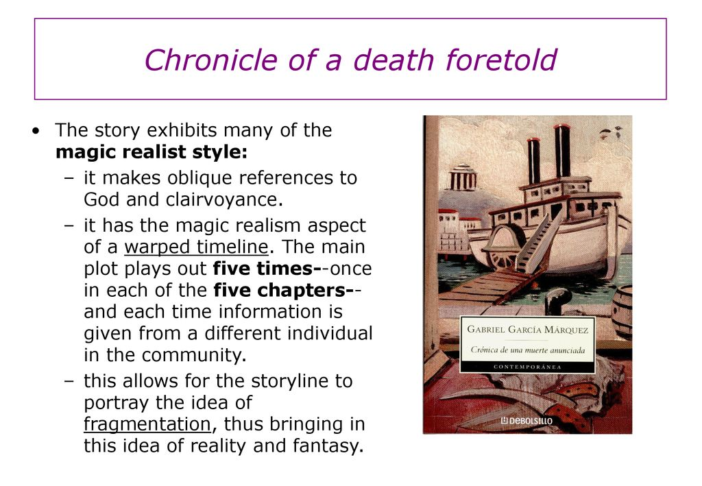 magical realism in chronicle of a death foretold