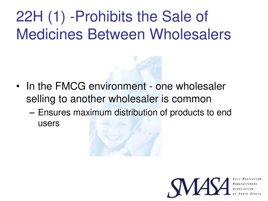 THE SELF MEDICATION MANUFACTURERS ASSOCIATION OF SOUTH AFRICA (SMASA