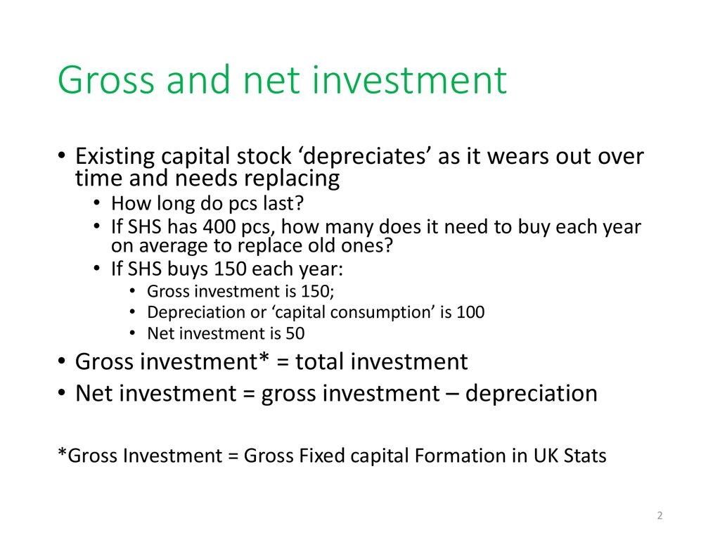 The difference between net and gross investment definition dunes village dubai investment park location