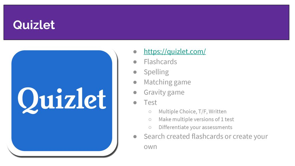 Create A Multiple Choice Test Quizlet