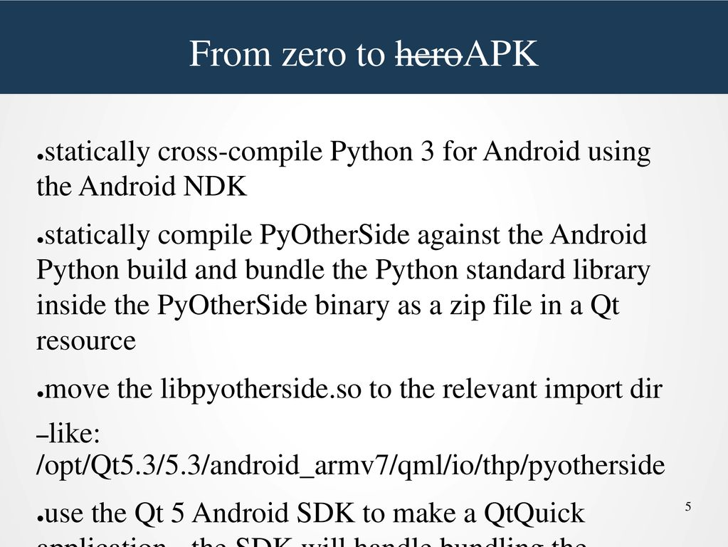 Writing Android applications with Python and Qt Quick - ppt
