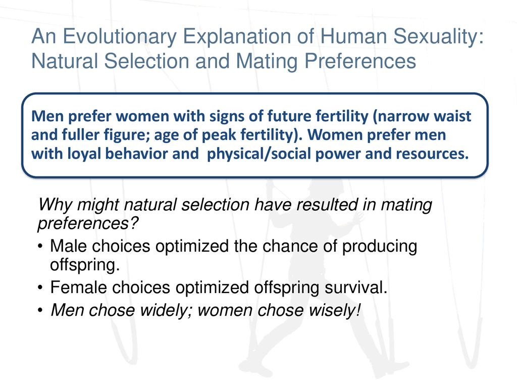Natural selection and sexuality