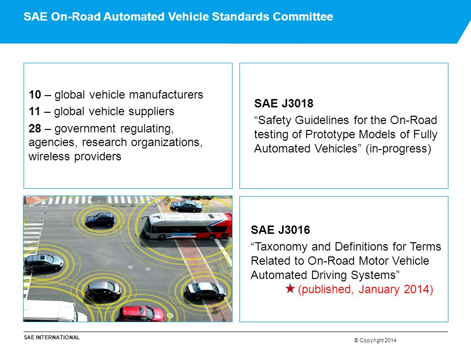 SAE On-Road Automated Vehicle Standards Committee