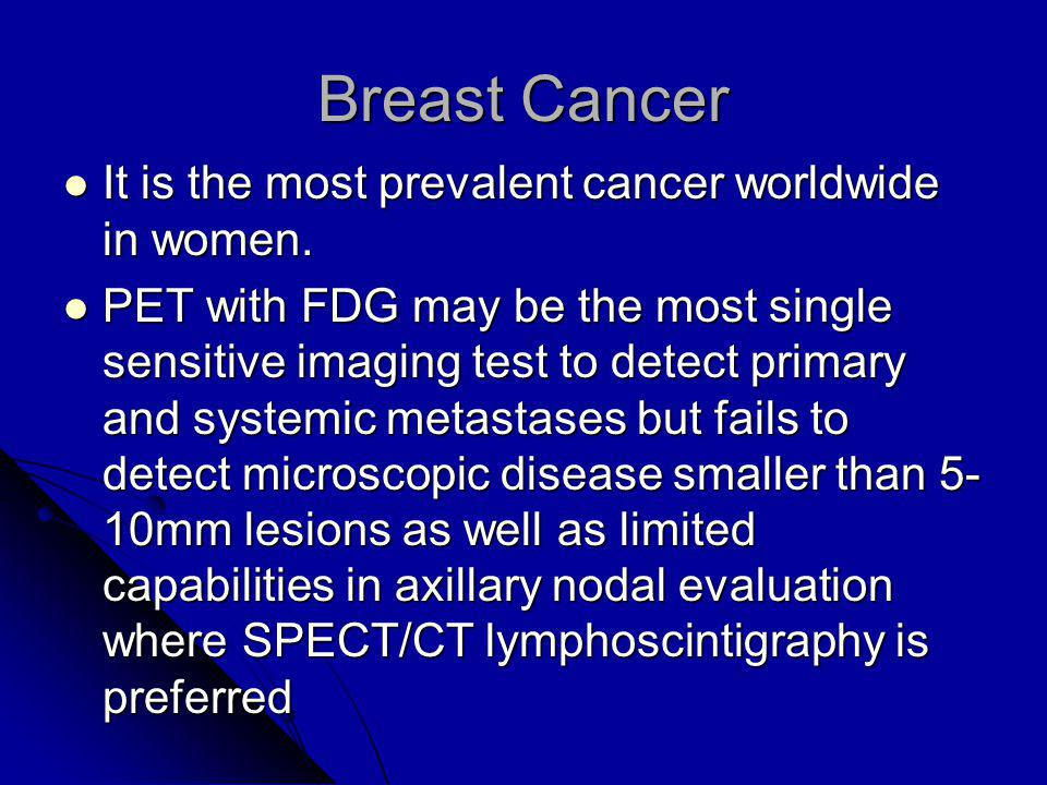 Breast Cancer It is the most prevalent cancer worldwide in women.