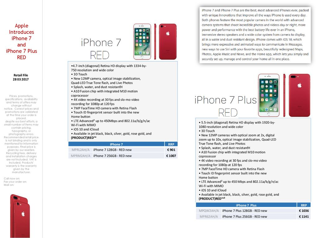 Apple Introduces iPhone 7 - ppt download