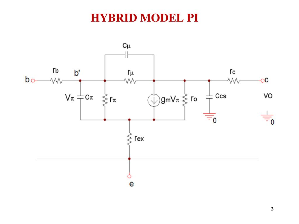 Small Signal High Frequency Transistor Amplifier Models
