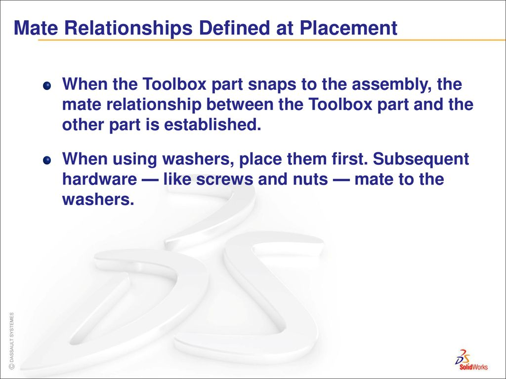 Lecture 16 SolidWorks Toolbox