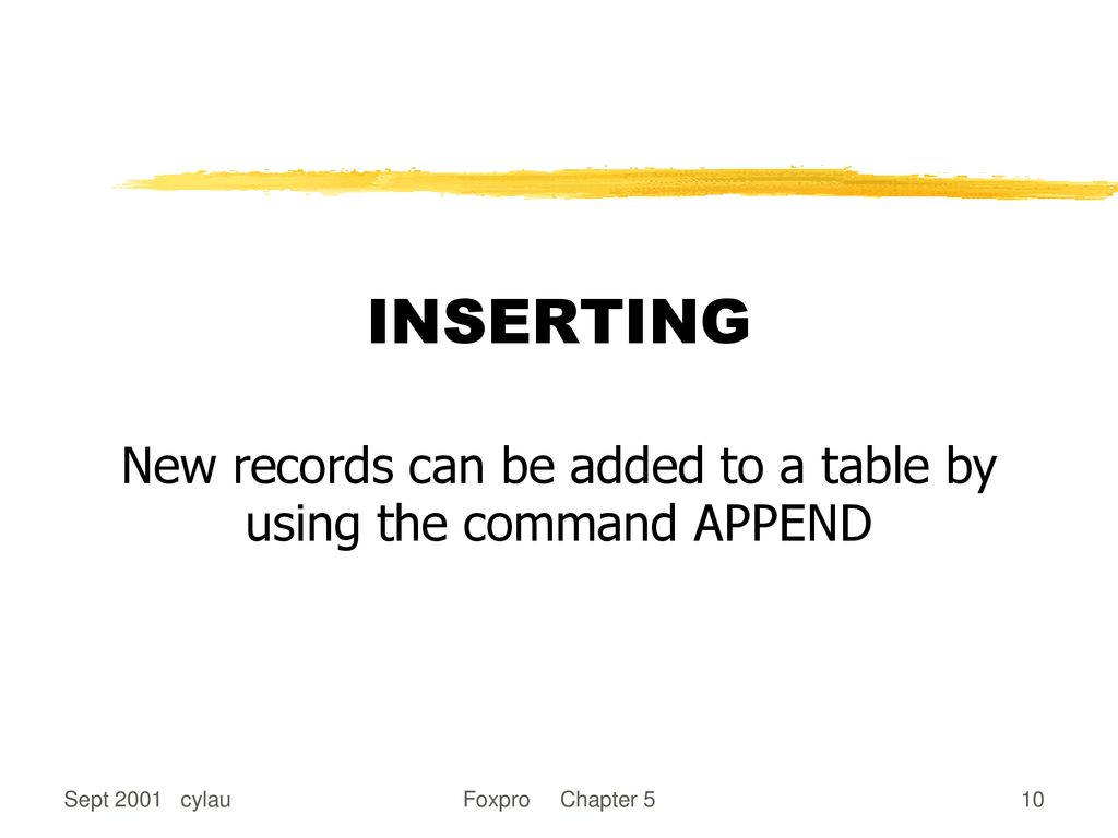 Updating Records in a Table - ppt download