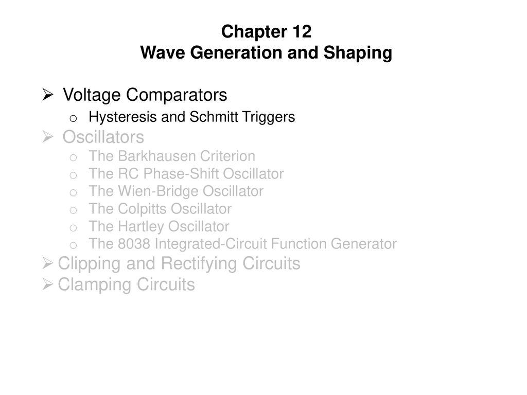Wave Generation And Shaping Ppt Download Rc Bridge Oscillator Circuit Oscillatorcircuit
