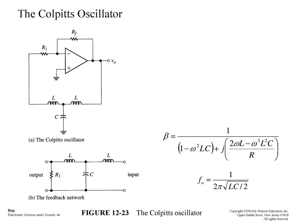 Wave Generation And Shaping Ppt Download The Colpitts Oscillator Circuit Consists Of A Figure
