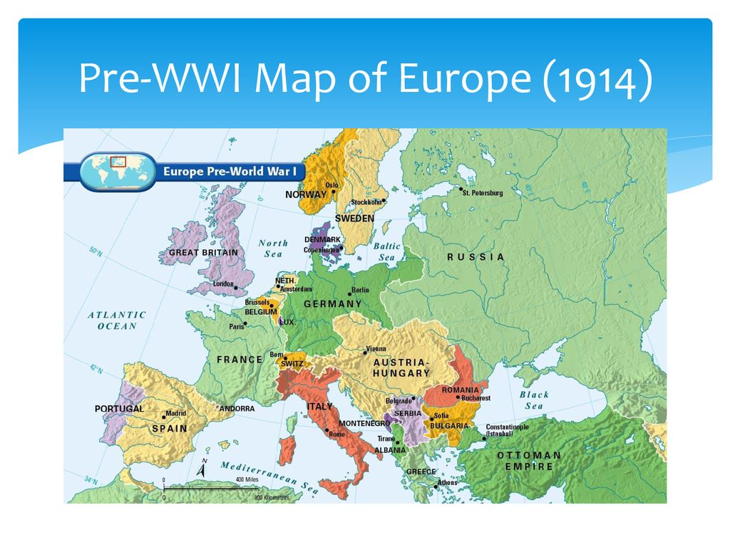 Do Now Compare the map labeled, Pre WWI with the post WWI map and ...