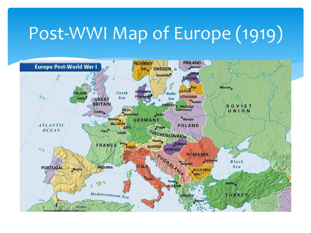 Do Now Compare the map labeled, Pre WWI with the post WWI ...