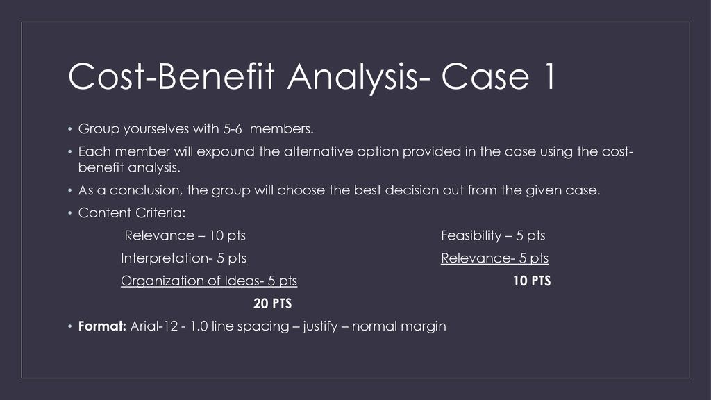 3 Cost Benefit Analysis
