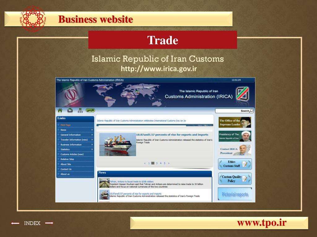 iran customs website