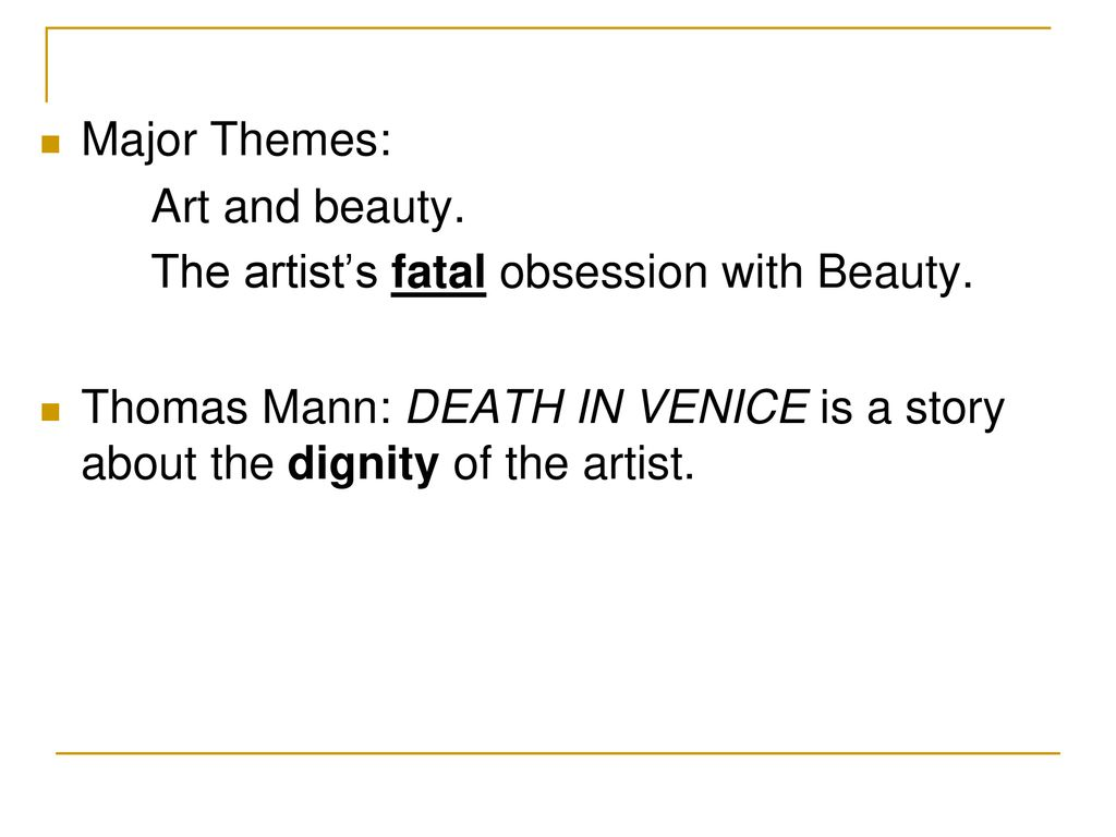 death in venice themes