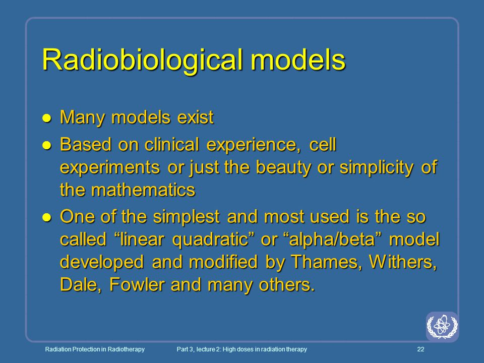 Radiobiological models