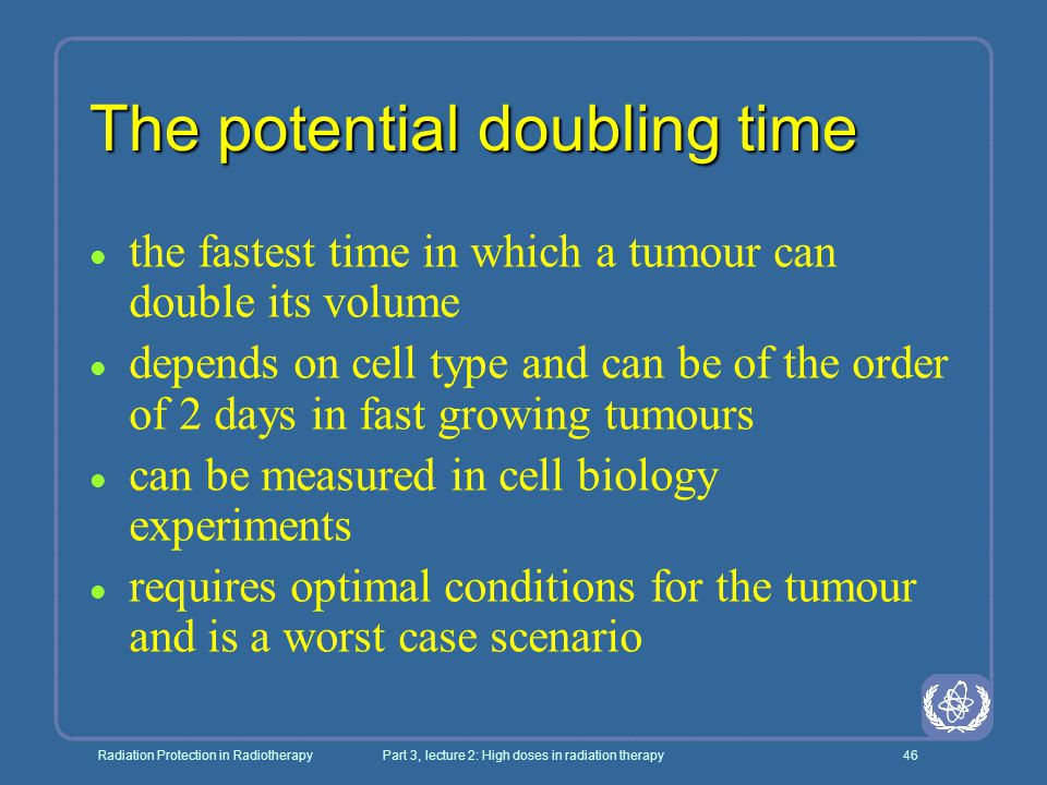 The potential doubling time