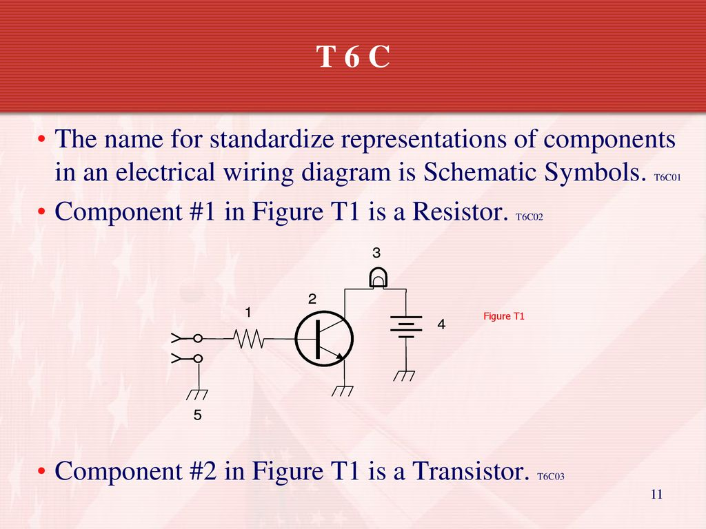 Technician Licensing Class Ppt Download Resistors Wiring Diagram Symbols T 6 C The Name For Standardize Representations Of Components In An Electrical Is