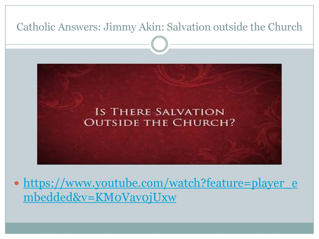 The Church's Salvation and Mission (PP ) - ppt download