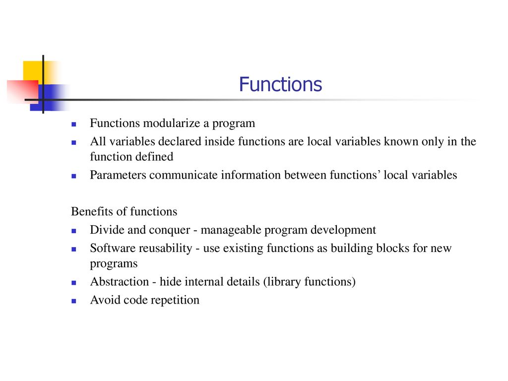 By Photo Congress || Benefits Of Functions In C Programming