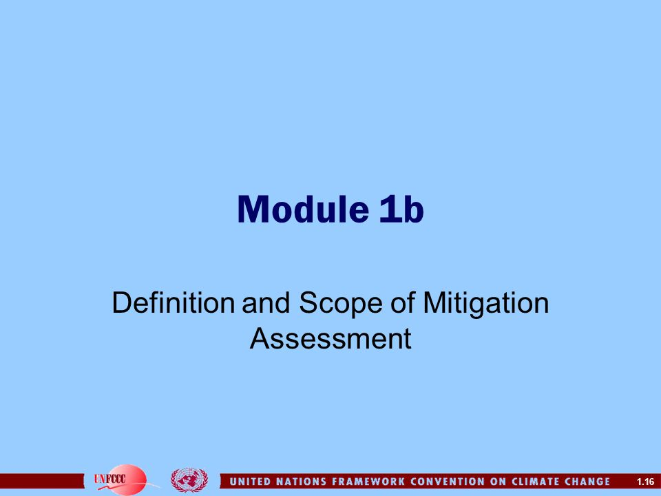 Definition and Scope of Mitigation Assessment