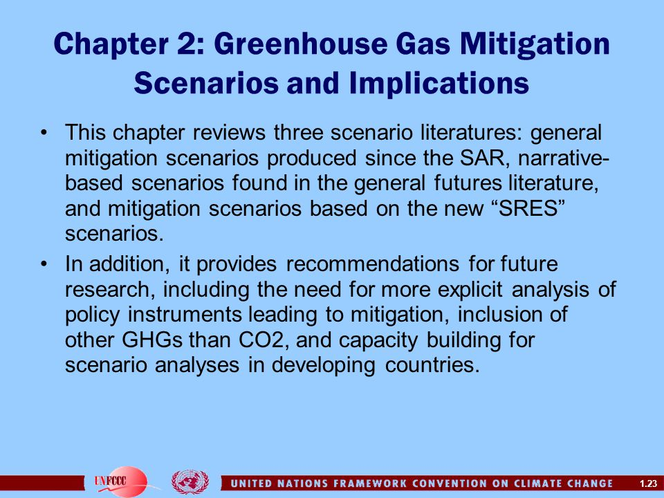 Chapter 2: Greenhouse Gas Mitigation Scenarios and Implications