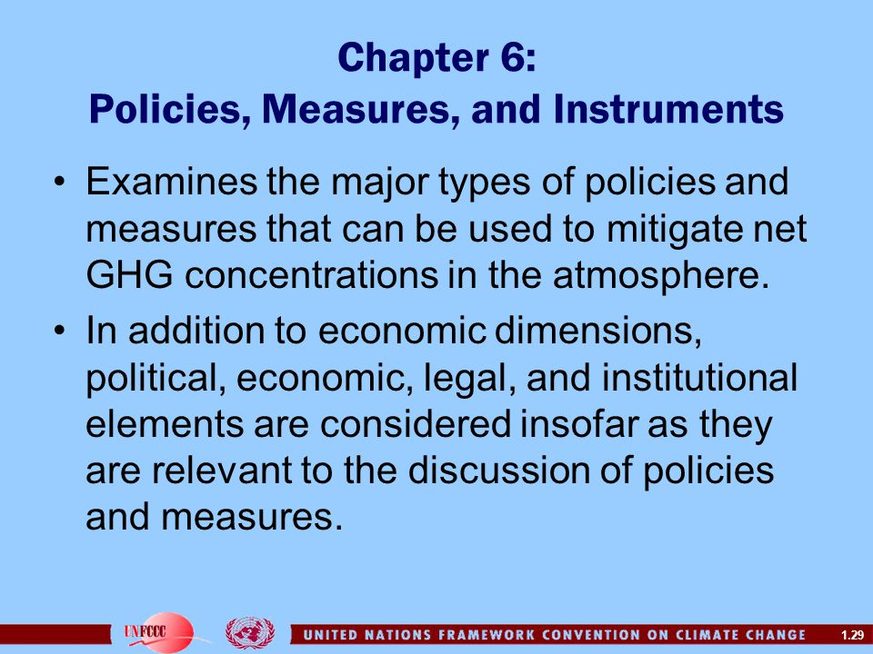 Chapter 6: Policies, Measures, and Instruments