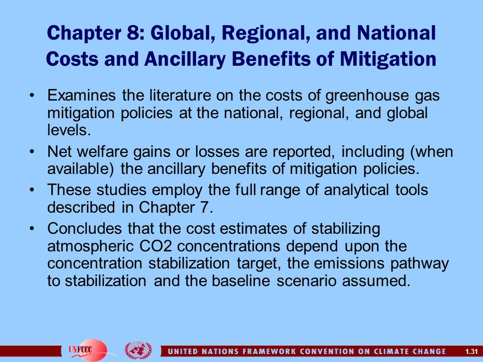 Chapter 8: Global, Regional, and National Costs and Ancillary Benefits of Mitigation