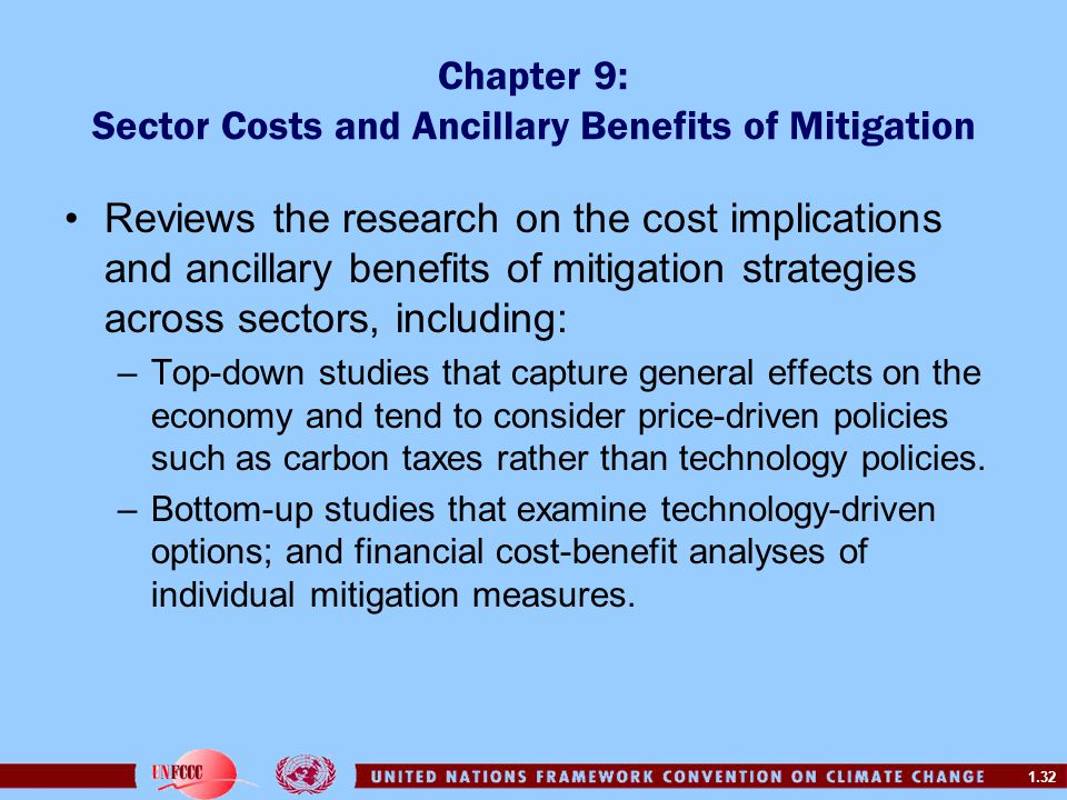 Chapter 9: Sector Costs and Ancillary Benefits of Mitigation